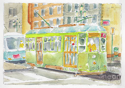 Painting - San Francisco Streetcar by Pat Katz