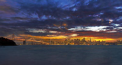 Scenic Photograph - San Francisco Sunset by David Gn