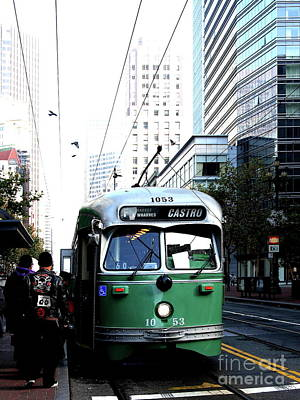 San Francisco Trolley Castro Line . 40d3023 Art Print by Wingsdomain Art and Photography