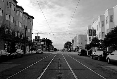Photograph - San Francisco - Trolley Line Street View by Matt Harang