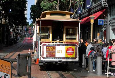 Photograph - San Francisco Trolly - Market Street by Matt Harang