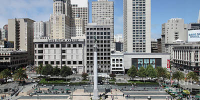 Photograph - San Francisco Union Square 5d17938 Panoramic by Wingsdomain Art and Photography