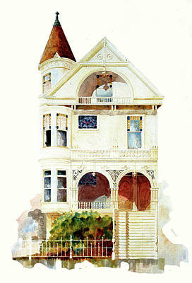 Painting - San Francisco Victorian by William Renzulli