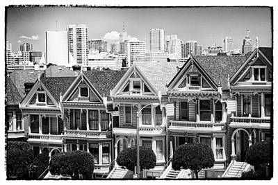 San Francisco View Lll - Black And White Art Print
