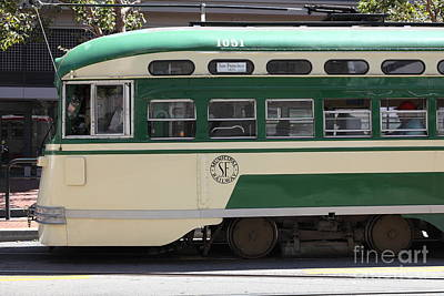 Photograph - San Francisco Vintage Streetcar On Market Street - 5d17973 by Wingsdomain Art and Photography
