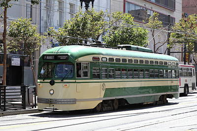 Photograph - San Francisco Vintage Streetcar On Market Street San Francisco California 5d17972 by San Francisco Art and Photography