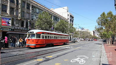 Photograph - San Francisco Vintage Streetcar On Market Street San Francisco California 5d18000 by San Francisco Art and Photography