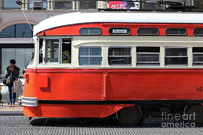 Photograph - San Francisco Vintage Streetcar On Market Street San Francisco California 5d18001 by San Francisco Art and Photography