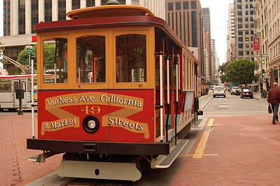 Photograph - San Francisco's Famous Cable Car by James Kirkikis