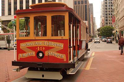 Photograph - San Francisco's Famous Cable Car by James Kirkikis