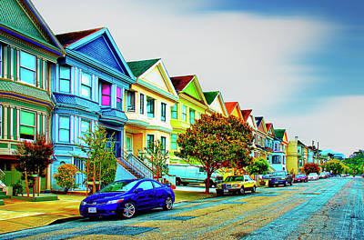 Photograph - San Francisco's Painted Ladies by Joseph Hollingsworth