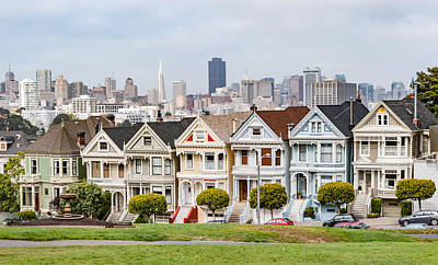 Historic Mixed Media - San Francisco's Painted Ladies - Victorian House Photograph by Duane Miller