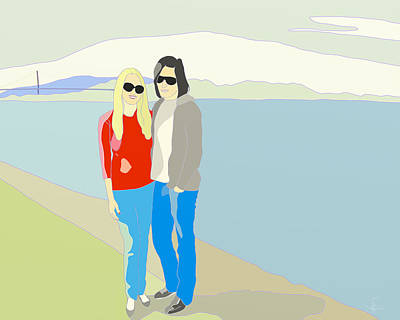 Digital Art - San Fransico Couple by Victor Shelley