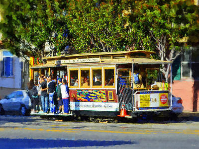 Golden Gate Mixed Media - San Fransisco Cable Car by Glenn McCarthy Art and Photography