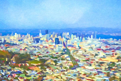 Painting - San Fransisco Impression by Lutz Baar