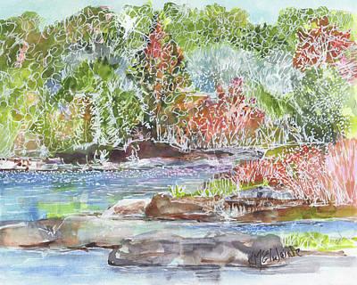 Painting - San Gabriel River Leander Texas by Kathleen McElwaine
