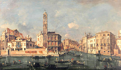 Bell Tower Painting - San Geremia And The Entrance To The Canneregio by Francesco Guardi