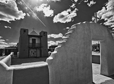 Art Print featuring the photograph San Geronimo Chapel Taos Pueblo by Lou  Novick
