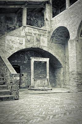 Photograph - San Gimignano - Medieval Well  by Silvia Ganora