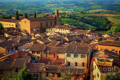 Photograph - San Gimignano From Above by Inge Johnsson