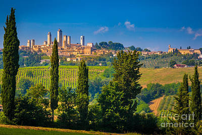 San Gimignano Art Print by Inge Johnsson