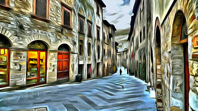 Historic Site Digital Art - San Gimignano by Jean-Marc Lacombe