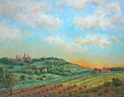 Painting - San Gimignano Sunrise by Jill Musser