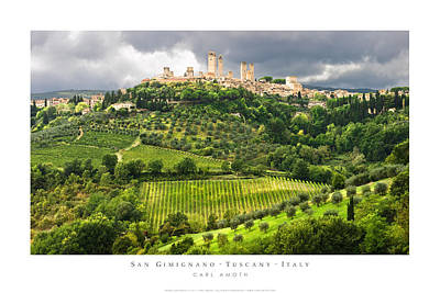 Photograph - San Gimignano Tuscany Italy by Carl Amoth