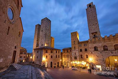 Photograph - San Gimignano Twilight by Brian Jannsen