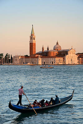 Photograph - San Giorgio Maggiore Church And Gondola by Songquan Deng