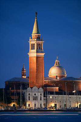 Photograph - San Giorgio Maggiore Church Night by Songquan Deng