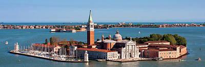Photograph - San Giorgio Maggiore From Above - Venice by Barry O Carroll