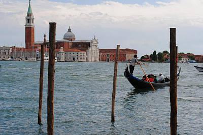Photograph - San Giorgio Maggiore Gondola by Robert Moss