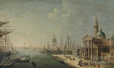 Fjord Drawing - San Giorgio Maggiore In Venedig by Celestial Images