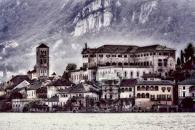 Photograph - San Giulio Island At Orta Lake by Roberto Pagani