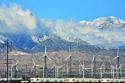 Photograph - San Gorgonio And Windmills In Palm Springs by Kirsten Giving