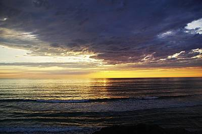 Photograph - San Gregorio Sunset by Michael Courtney