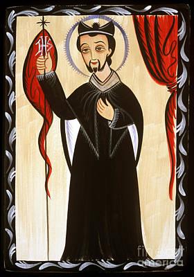 Painting - San Ignacio De Loyola - St. Ignatius Of Loyola - Aoidl by Br Arturo Olivas OFS