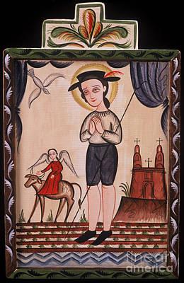 Painting - San Isidro - St. Isidore - Aoisi by Br Arturo Olivas OFS