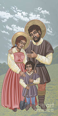 Painting - San Isidro Y Santa Maria Y Nino 214 by William Hart McNichols