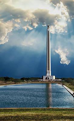 Photograph - San Jacinto Monument by Roy Nierdieck
