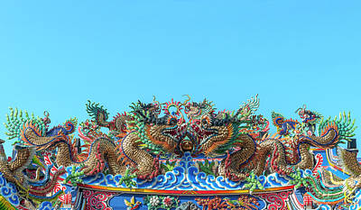 Photograph - San Jao Pung Tao Gong Dragon Roof Dthcm1143 by Gerry Gantt