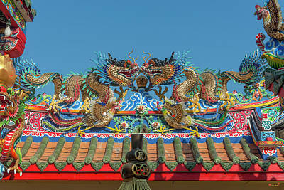 Photograph - San Jao Pung Tao Gong Dragon Roof Dthcm1153 by Gerry Gantt