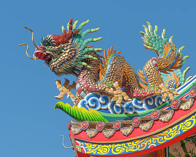 Photograph - San Jao Pung Tao Gong Dragon Roof Finial Dthcm1154 by Gerry Gantt