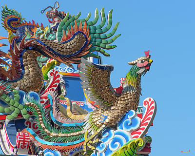 Photograph - San Jao Pung Tao Gong Dragon Roof Phoenix Dthcm1151 by Gerry Gantt