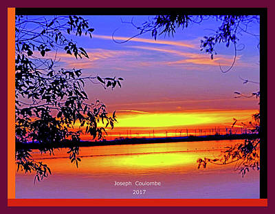 Digital Art - San Joaquin River Sunset by Joseph Coulombe