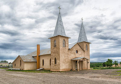 Photograph - San Jose Church In Anton Chico Nm by Alan Toepfer