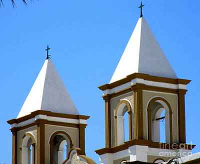 Photograph - San Jose Del Cabo Cathedral Steeples by Randall Weidner