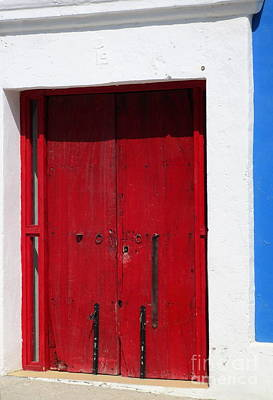 Photograph - San Jose Del Cabo Door 3 by Randall Weidner
