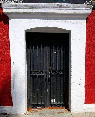 Photograph - San Jose Del Cabo Door 8 by Randall Weidner